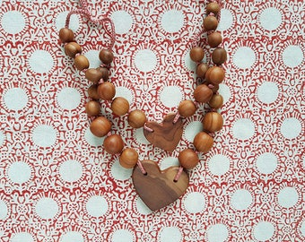 Layered Necklace, Silk and Applewood - Mommy Necklace, Nursing Necklace, Teething Necklace - Mother's Day Gift