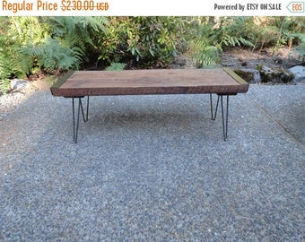 Limited Time Sale 10% OFF 5 ft Industrial Bench from salvaged barnwood