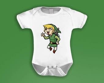 Legend of Zelda Inspired Baby Grow / Bodysuit (Link)