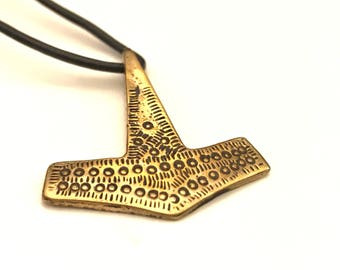 Thor's Hammer, Bronze Mjölnir, Celtic Thor Mjolnir Hammer,  Asatru Symbol, Large Hammer, God of Thunder Necklace, Nordic Jewelry
