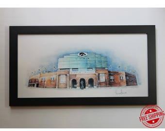 Iowa University Art Print Hawkeyes Fan Gift Of Graduation