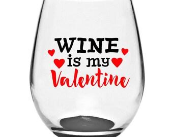 valentine wine glass valentine glass stemless glass stemless wine glass valentine gifts - Valentine Wine Glasses