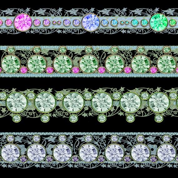 Digital borders diamond frame clip art digital scrapbook for Border lace glam