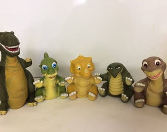 1988 Pizza Hut Land Before Time Dinosaur Puppets
