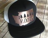 Washington State Roots Trucker Hat {Rose Gold}