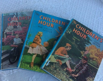 Children's Hour with Uncle Arthur Set of Hardcover Books  / Vintage Children's Story Books from the 1940's