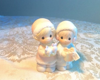 CIJ Vintage Precious Moments Figurine / Porcelain Christmas Figurines