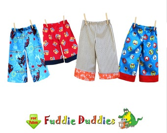 Boy's Pants Pattern. Pajama Pattern pdf, Toddler Shorts Pattern, Ankle Biter Beach Shorts, Shorts, Lounge pdf  Ruffle Pants. Fuddie Duds