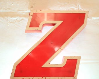 Vintage Letter Z,  Alphabet, Z, Wall Art