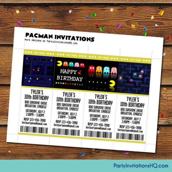 video game party invitation wording