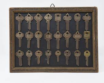 Vintage Key Display