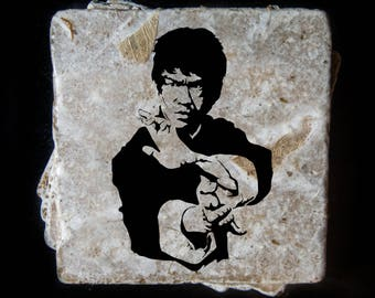 Bruce Lee coaster set. **Ask for free gift wrapping and have them sent directly to the recipient!**