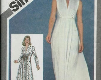 ON SALE Simplicity 9750 Misses Princess Seamed Dress Pattern, Two Lengths, Size 14, UNCUT