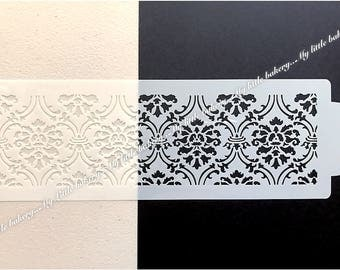Beautiful damask stencil for cake & cookie decoration