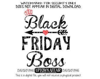 Black Friday Boss Distressed  SVG/PNG/DXF Digital cut file Sale