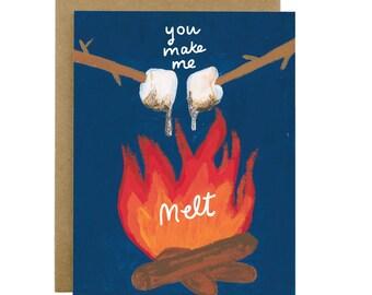 Love card, valentines day card, anniversary card, Wanderlust card, Outdoorsy love, adventure couple, romantic card, sweet card, make me melt
