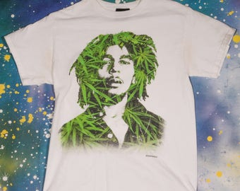 BOB MARLEY Rasta Reggae Rock T-Shirt Size M