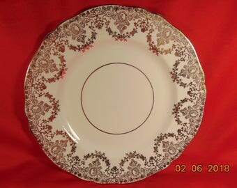 "One (1), 8 1/8"", Bone China, Salad Plate, from Grosvener/Regency, in the Gro 78/RE 3 Pattern."