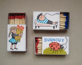illustrated matchbox set burnout
