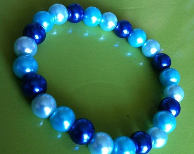 Bracelet turquoise beads and blue