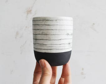 Hand Painted Porcelain Cup - Ceramic Cup - Pottery Cup - Ceramic Tumbler
