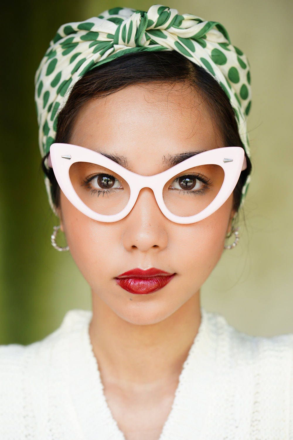 cb237f3629 Vintage Pink Style Extreme Cat Eye Frames Thick Temples Very Large By Lemon  Eyeglass Co.