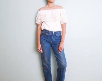 Levis 501 26 - Vintage Levis 501 Jeans - High Waisted Levis - Levis 501 xx 26 - 80s Levis 501 - Mom Jeans 26 - Levis Straight Leg - 1980s A