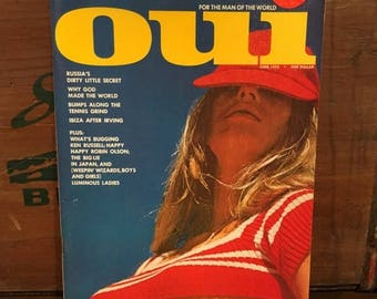 ON SALE Vintage oui Magazine June 1973 Pin-Up Nude Centerfold Playboy Ken Russell