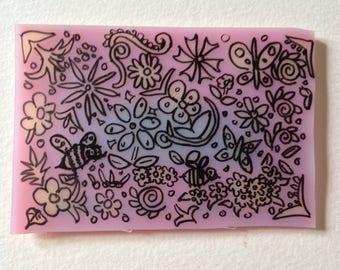 Floral Summer Shrinky Dink Magnet