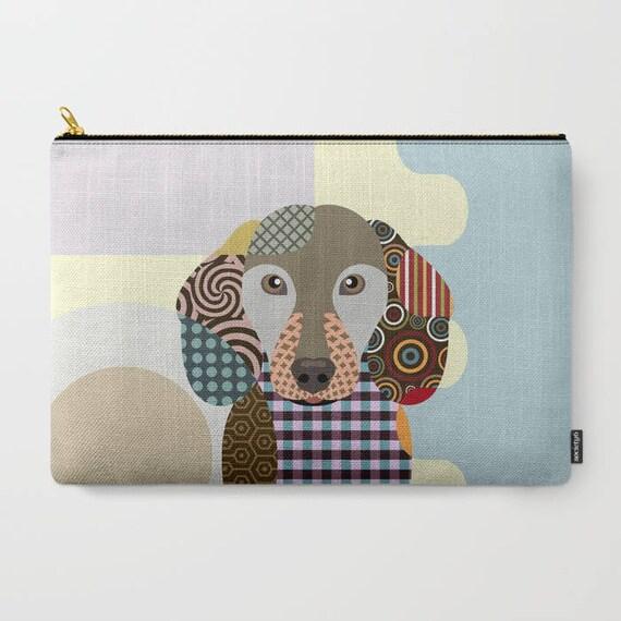 Dachshund Pouch, Dachshund Gifts, Dog Wallet, Pet Pouch, Pet Gifts,  Dog Pouch, Zipper Bag Purse,  Dog Zipper Pouch