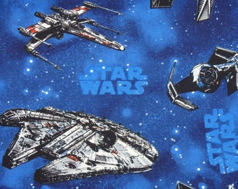 Star Wars Fabric, Star Wars Millennium Falcon, Space Ship Fabric, Outer Space Fabric, Quilting Cotton, By the Half Yard