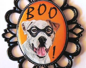 Halloween Pit Bull Terrier Pin