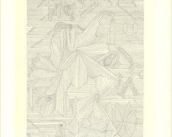 Paul Klee-Botanical Garden, Palmate Plants-1946 Lithograph