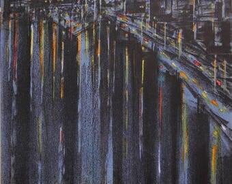Richard Florsheim-La Seine a Paris-1964 Mourlot Lithograph