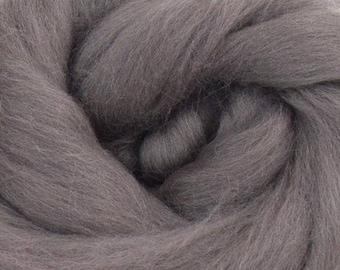 Pewter Merino Wool Top - 23 Mic 64's -  Needle Felting - Spinning - Wet Felting - Nuno Felting - Wet Felting
