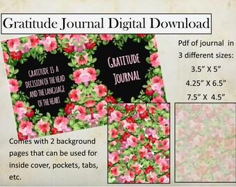 Floral Heart Gratitude Journal