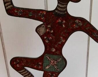 Vintage Bali Brass Woman Bohemian Ethnic Statue