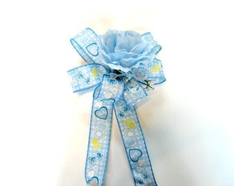 Baby shower bow, Baby shower decoration, Newborn boy baby bow, Gift bow for new moms, Gift for baby shower, Its a Boy gift bow