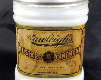Vintage Rawleigh's Mustard Ointment Jar
