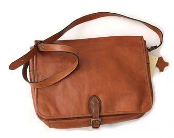 Vintage Katana Paris Large messenger bag / 90s paris leather messenger