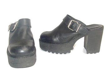 90s chunky CLOGS platform us5 fr36 uk 4