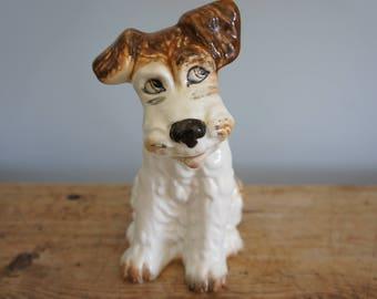 "Sylvac porcelain 8"" sitting Terrier"