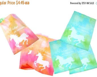 "On Sale 20 Pastel Pink and Blue Unicorn 10"" x 13"" Flat Poly Mailers, Animal Lovers Self Sealing Flat Envelope Mailers, Colored Shipping Mail"