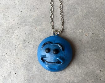 Rick and Morty, Mr. MeeSeeks, Polymer Clay, Pendant, Necklace, kitsch, Adult Swim, Look ar Me