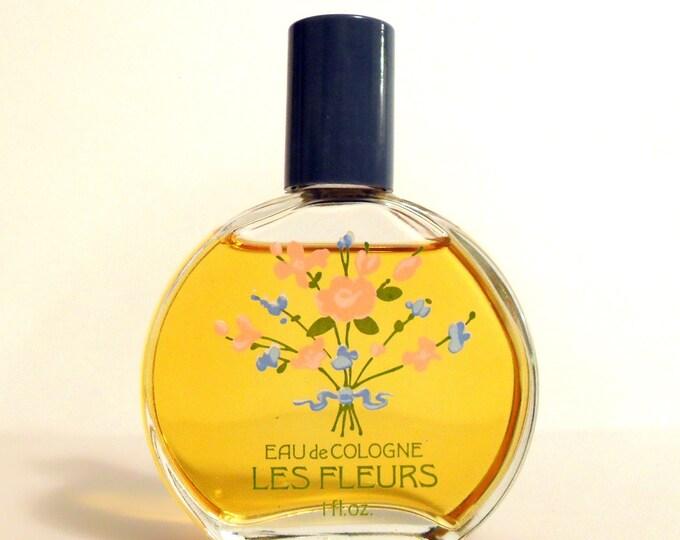 Vintage 1980s Les Fleurs by Alyssa Ashley 1 oz Eau de Cologne Splash  PERFUME