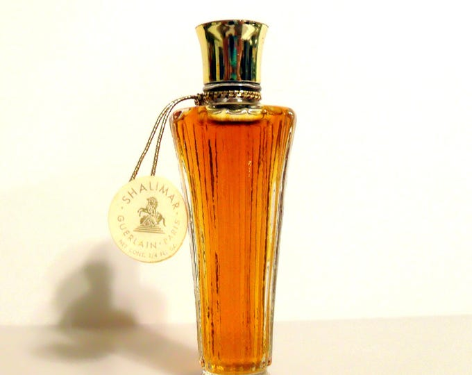 Vintage Perfume 1950s Shalimar by Guerlain 0.25 oz Pure Parfum Extrait Splash Classic Women's Fragrance
