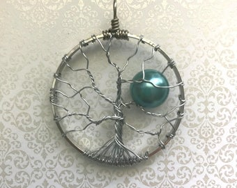 Handmade Silver Tree of Life Pendant Necklace