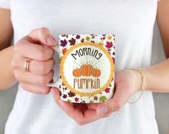 Morning Pumpkin Mug Leaf