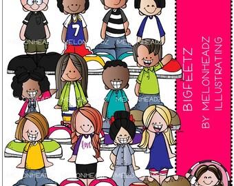 Bigfeetz clip art - COMBO PACK - Melonheadz Illustrating