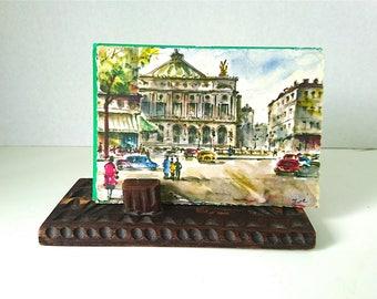 French Postcards 9 x Antique and Vintage, Colour, B & W - Early 1900s French Postcards x 4 - 1950s and 60s French Postcards x 5, Colour